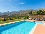 The pool offers great views of the surrounding area!