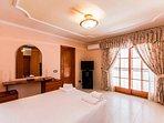 Main Bedroom with ensuite Bathroom, balcony, ocean views, tv and aircon