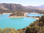 Spectacular lakes in the mountains further up from La Cala Hills...Natural beauty at its best!