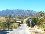 Leaving the beautiful La Cala private development.
