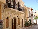 Villa Kamares exterior showing the Astraeus apartment balcony