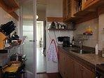 cosy kitchen; something old something new.