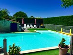 Village locations, mins from the beach, hot tub, sauna & heated/fenced pool