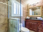 Master bathroom with modern standup shower