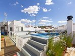 Teodosio Terrace. 3 bedrooms, 3 bathrooms, terrace & private pool