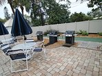BBQ and eat out on the patio located poolside