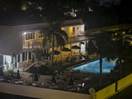 Crescent Royale community clubhouse and pool at night - so beautiful!