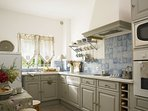 Provencal kitchen with all modern appliances