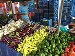 Stock up for the week at the farmers market.