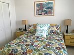 3d BR upstairs with new queen bed and carpeting.  LED TV in all rooms w/ cable.