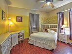 Look forward to retreating to the Master Bedroom's cozy queen-sized Bed.
