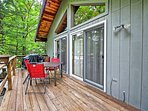 Kick back on the spacious deck with your favorite beverage in hand!