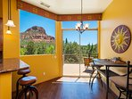 Coffee in your kitchen with a view.