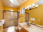 Full bathroom  with private entrance from bedroom #3