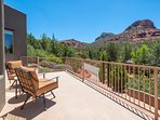 Sun deck with red rock views. Direct access from master suite and kitchen