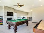Games galore in the upstairs game room