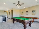 2 Bedrooms Upstairs - And Game Room with Wine Fridge, Wet Bar and Pool and Shuffleboard Tables