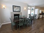 Multiple Dining Choices and Fireplace