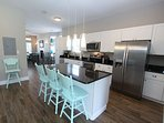 Island in Kitchen with Bar Seating