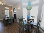 Dining Area Showing Tall Dining Table
