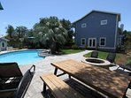 Outdoor Picnic Table by Pool