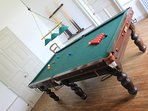 8ft snooker / pool table off the dining room