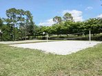 Basketball & Sand Volleyball courts located next to tennis courts