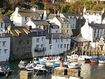 The picturesque harbour at Polperro