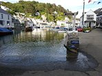 High tide at Polperro
