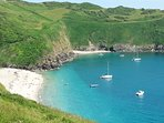 Lantic Bay, along the coast path