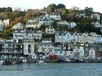 The nearby town of Looe