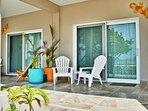 Veranda is 13'X10' and overlooks the pool and beach.