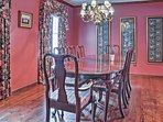 Share a meal in the formal dining room.