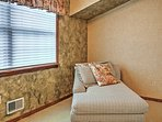 The master bedroom also features a separate sitting room to relax.