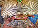 Luxury yurt retreat in Sussex Woodlands. Perfect spot for romantic  getaway or family adventure.