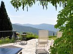 Tuscany at its best.  high on the hill, easy drive, tranquil and private with views to die for!