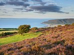 Views from Porlock Hill across Porlock Bay Exmoor National Park.  Approx 2 miles from our cottage.