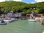 Picturesque harbour at Porlock Weir, approx 1.5 mile woodland or coastal walk from our cottage