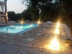 Private swimming pool 9m lenght and 4,5 m width which includes hydro-massage jacuzzi