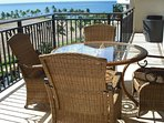 The Lanai ocean view from dining room of this water front vacation rental