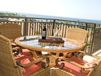 The perfect ocean view from the lanai ocean of this Oahu vacation rental