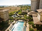 Enjoy views of the luxury resort pool from the lanai in this Hawaii condo rental