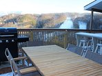 Step out onto the deck for an afternoon barbecue.