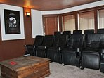 Watch your favorite films in the private movie room.