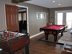 Play a game of pool or foosball.