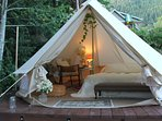 Middle Forest Relaxation Tent- Smith Chalets