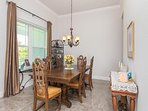 Formal Dining Room sits 6