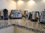 Gadgets galore! Nespresso, Aerocinno (milk frother), NutriBullet juicer...and more!