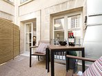Shared roof terrace - perfect for a pre dinner drink or breakfast