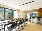 Fully equipped spacious kitchen with dining table